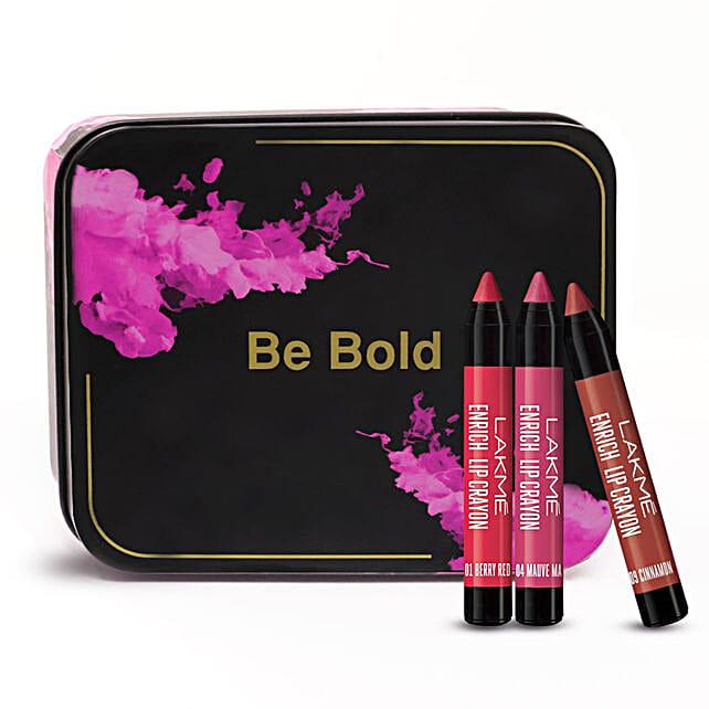 Lakme Be Bold Enrich Lip Crayons Set: