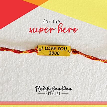Avengers Special I Love You 3000 Rakhi & Card: Send Rakhi to Bhimavaram
