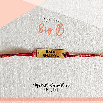 For Your Bade Bhaiya Quirky Rakhi & Card: Rakhi Gifts to Karnataka