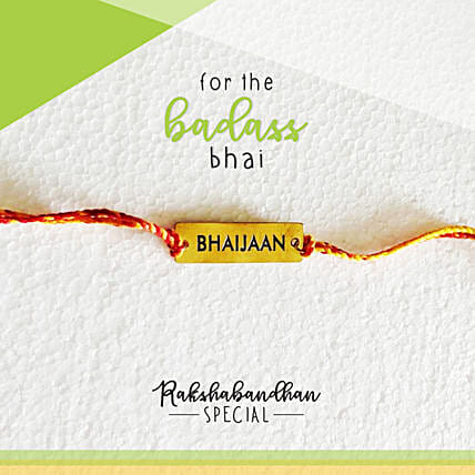 For Your Bhaijaan Quirky Rakhi & Card: Rakhi to Bharatpur