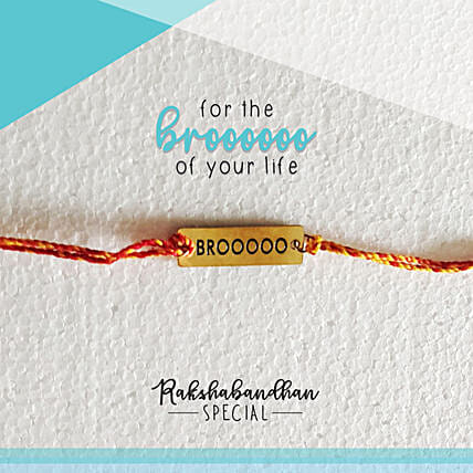 For Your Brooo Quirky Rakhi & Card: Send Rakhi to Raigarh