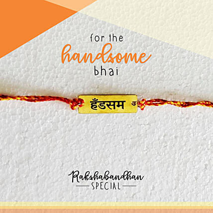 Handsome Bro Quirky Rakhi & Card: Rakhi Gifts to Port Blair