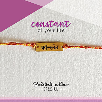 You Are My Constant Rakhi & Card: Rakhi to Manali
