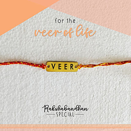 For Your Veer Quirky Rakhi & Card: Unusual Rakhi