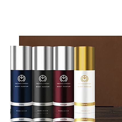 The Man Company Set of 4 Body Perfume: Fathers Day Gift Hampers
