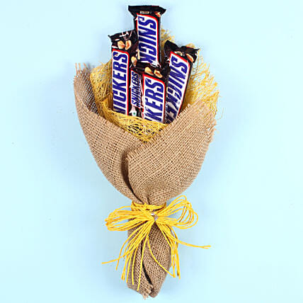 Snickers Chocolate Bouquet: Easter Gifts