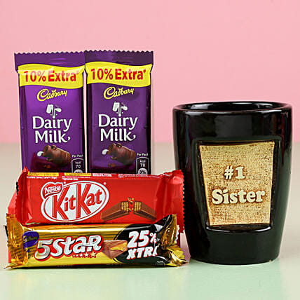 Assorted Chocolates & No. 1 Sis Pot Combo: Gift Combos