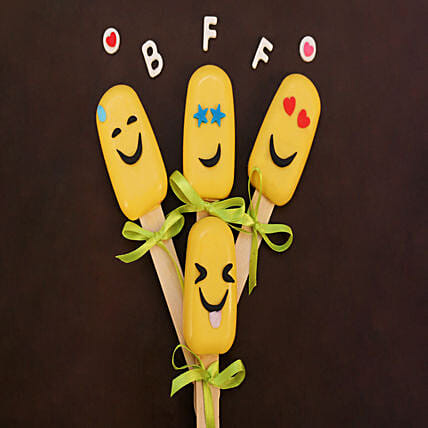 Emoji Special Funny Cakesicles Set of 4: Cakesicles