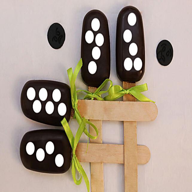Polka Dot Special Cakesicles- Set of 4: Cakesicles