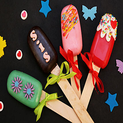 Pretty Cakesicles For Sister- Set of 4: