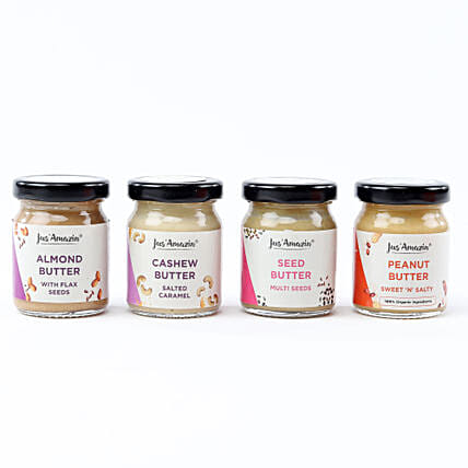 Nutritious Nut & Seed Butter Jar Combo: Send Gourmet Gifts
