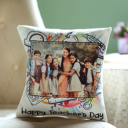 Teacher's Day Personalised Cushion: Send Gifts for Teachers Day