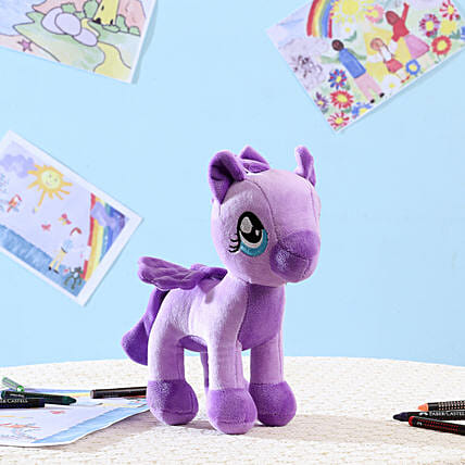 Appealing Purple Pony Soft Toy: Send Soft Toys