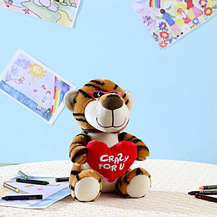 Brown Crazy For You Tiger: Send Soft Toys