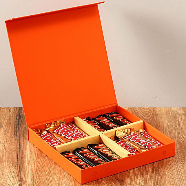 Chocolaty Orange Gift Box: Chocolates Shopping India