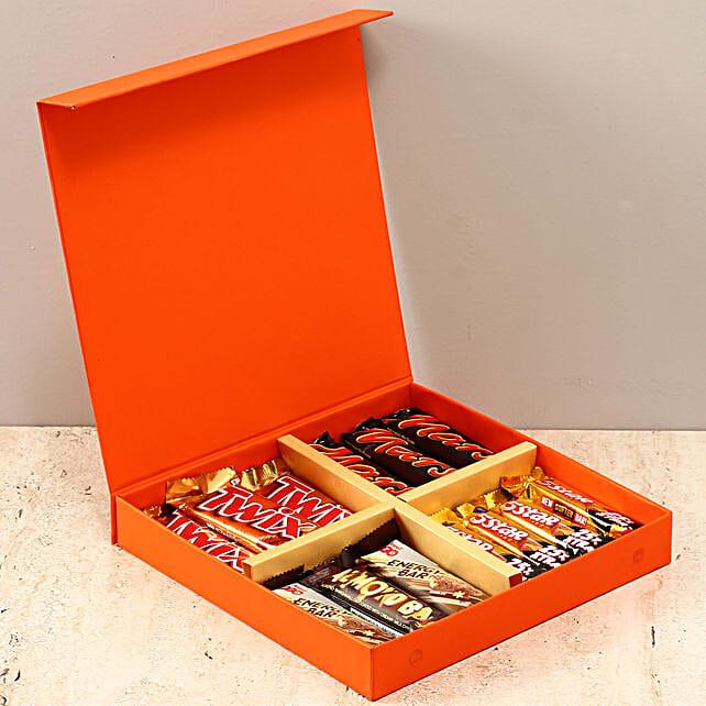 Orange FNP Box Of Chocolates: Amul Chocolates