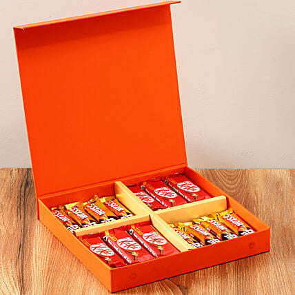 Orange FNP Gift Box Of Chocolates: Thanksgiving Day Gifts