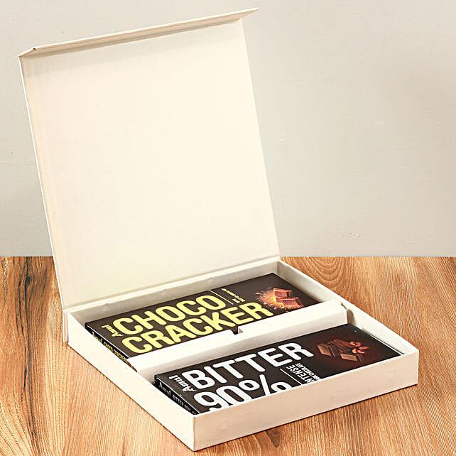 White FNP Box Of Amul Chocolates: Amul Chocolates