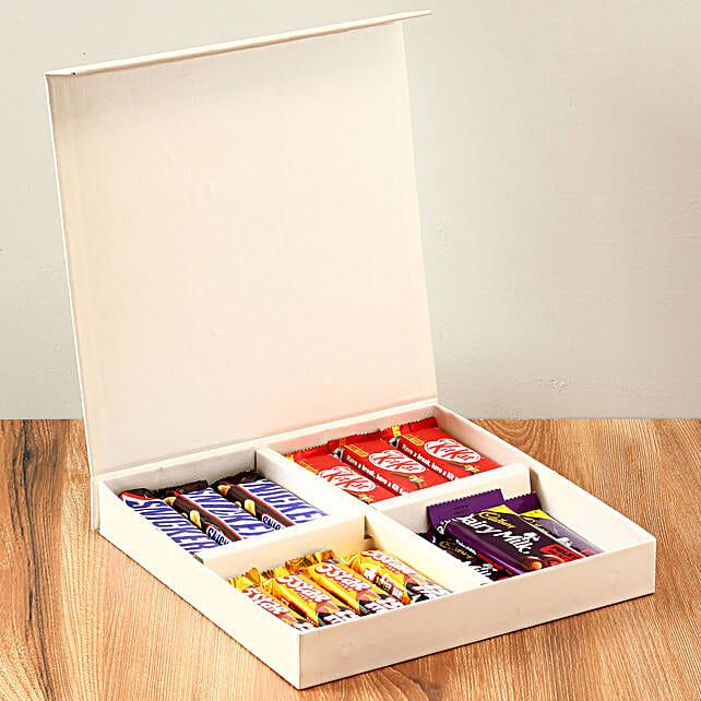 White Gift Box Of Chocolates: Gifts Bhai Dooj for Kids