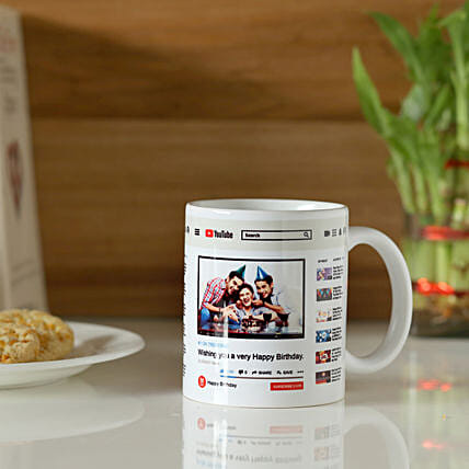 Personalised YouTube Birthday Mug: Custom Photo Coffee Mugs