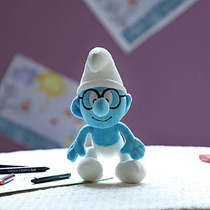 Smurf Smurf With Glass 20 Cm: Soft Toys Gifts