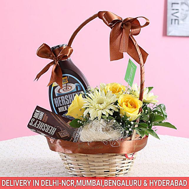 Floral Hershey's Basket: