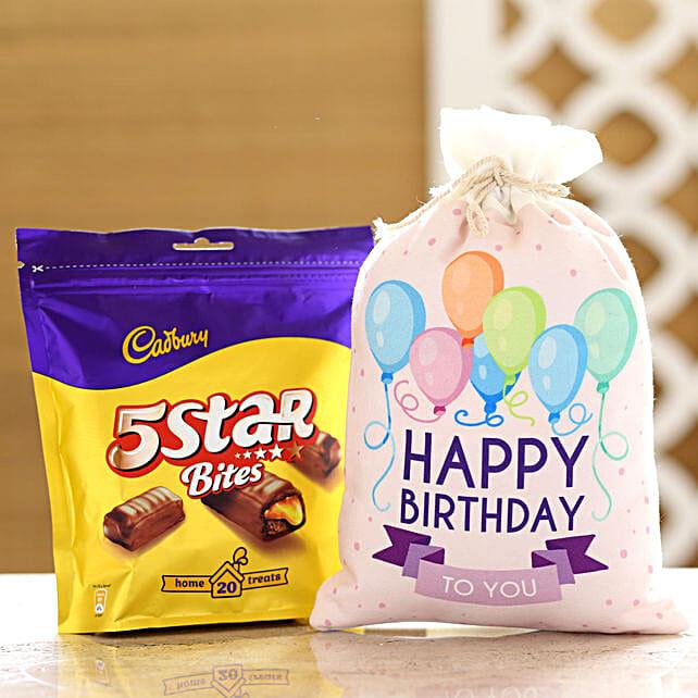 Cadbury 5 Star Pack & Birthday Gunny Bag: Chocolates Shopping India
