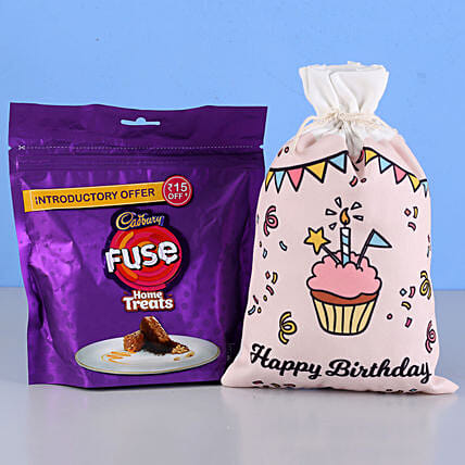 Fuse Home Treats & Birthday Gunny Bag: Chocolate Gifts in India