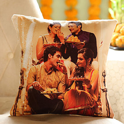 Personalised Festive Celebrations Cushion: Diwali Gifts for Friend