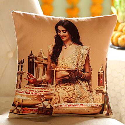 Personalised Festive Cushion: Diwali Gifts for Wife