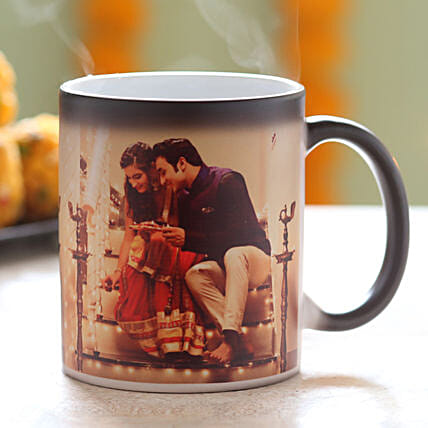Personalised Festive Magic Mug: Diwali Gifts for Boyfriend