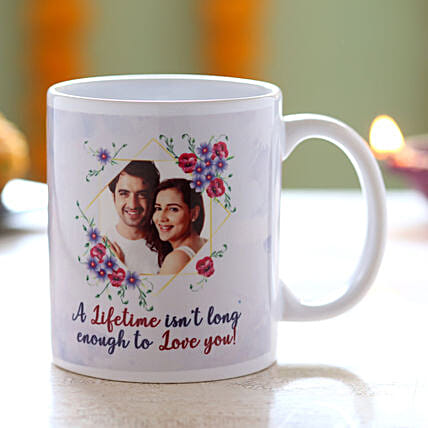 Personalised Lifetime Is Not Enough Mug: Diwali Gifts for Wife