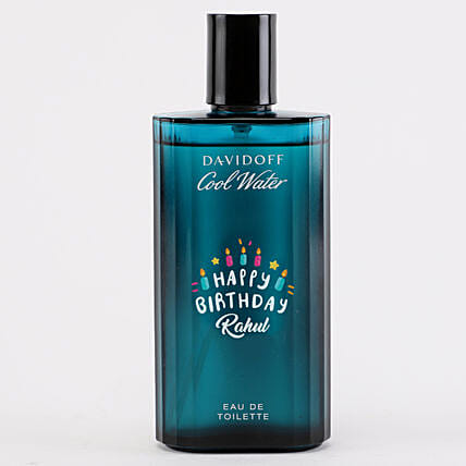 Personalised Davidoff Cool EDT Bottle For Men: Premium Personalised Gifts