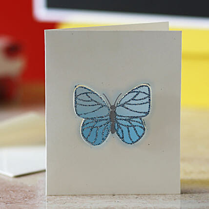 Blue Butterfly Greeting Card: Girlfriends Day Gifts