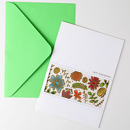 Happy Anniversary Floral Greeting Card: Buy Greeting Cards