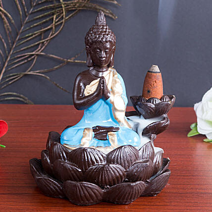 Lord Buddha Incense Burner Blue: Wedding Gifts for Bride