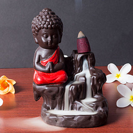 Lord Buddha Incense Holder Plum Red: Buddha Collection