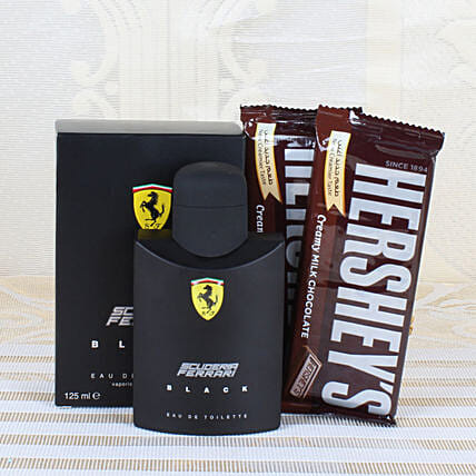 Ferrari Black Perfume & Chocolates: Send Perfumes