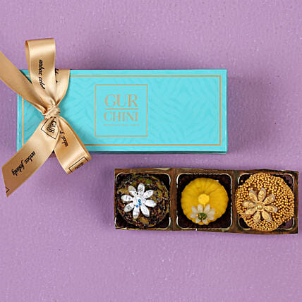 Assorted Mithai Box- 3 Pcs: Send Gifts for Pongal