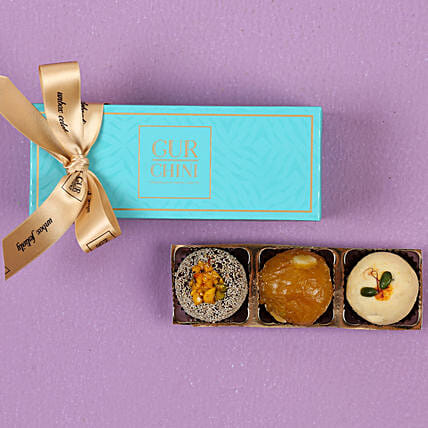 Burfi & Laddu In Blue Box- 250 gms: Gifts for Pongal