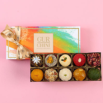 Flavourful Mithai Box- 10 Pcs: Sweets Delivery