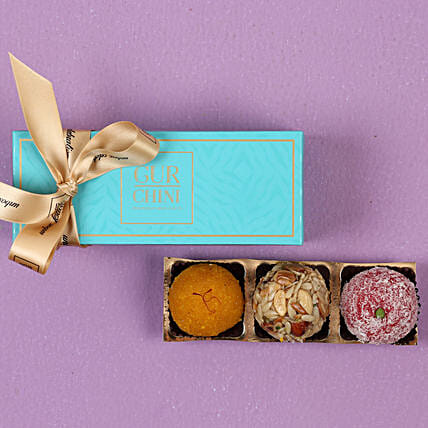 Luscious Laddu In Blue Box- 250 gms: Send Gifts for Pongal