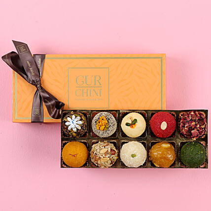 Luscious Mithai In Orange Box: Buy Sweets