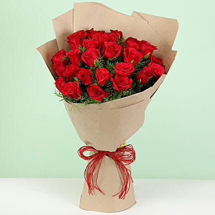 Beautiful 30 Red Roses Bouquet: Gifts to Pilibhit