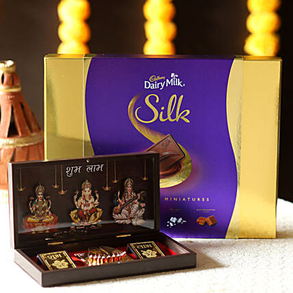 Diwali Pooja Box & Dairy Milk Miniatures: