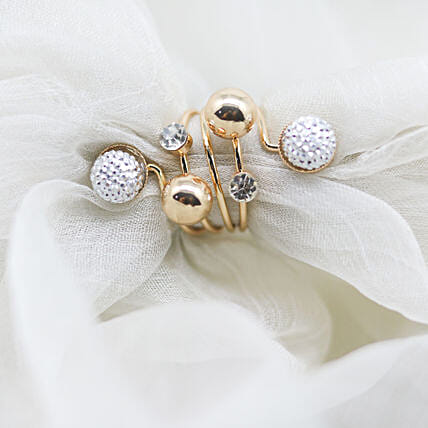 White & Gold Ring: Rings