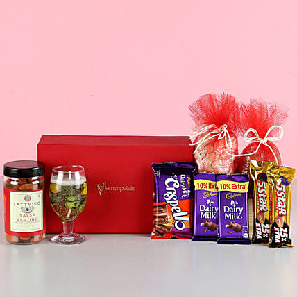 Nutty Chocolaty Treats With Candles: Diwali Gifts