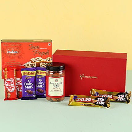 Salsa Almonds & Soan Papdi Gift Hamper: Gift Combos