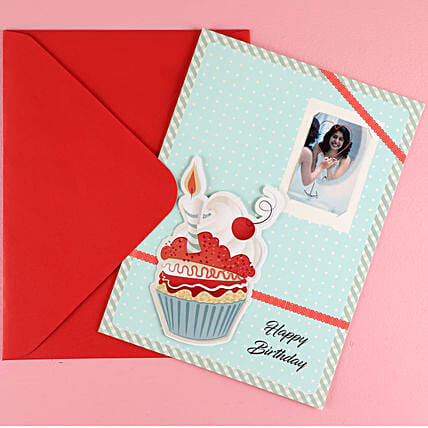Big Cup cake Birthday Greeting Card: Best Gifts to India