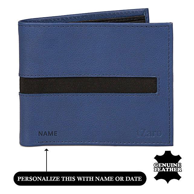Bi-Fold Blue & Black Wallet For Men: Handbags and Wallets Gifts